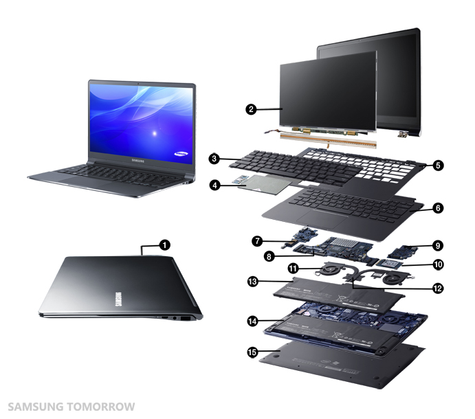 the new series 9 slim inside and out samsung global newsroom. Black Bedroom Furniture Sets. Home Design Ideas