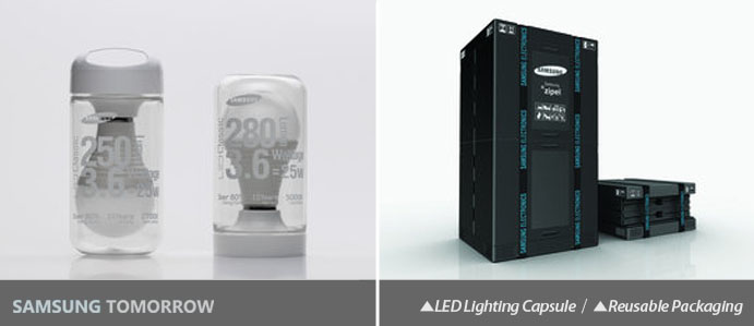 LED Lighting Capsule, SBS refrigerator packaging