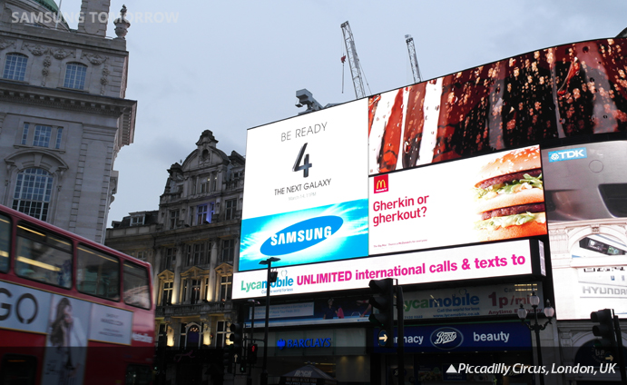 The Next GALAXY_piccadilly circus london UK