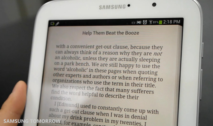 GALAXY Note 8.0-Reading Mode
