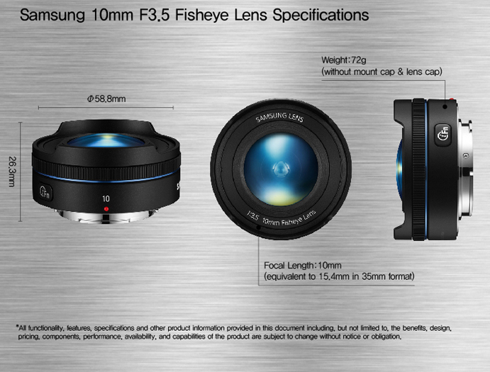 Samsung 10mm F3.5 Fisheye Lens Specifications