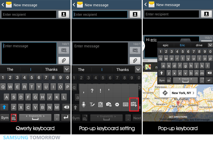 3. Multitasking with pop-up keyboard