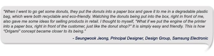 Seungwook Jeong, Principal Designer, Design Group, Samsung Electronic