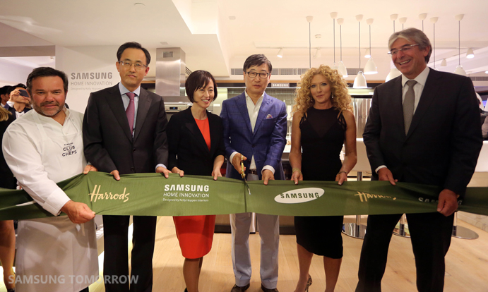 The Samsung Home Innovation Luxury Living Space is located on the second floor at Harrods in Knightsbridge.