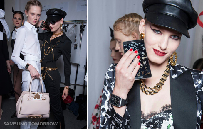 Samsung Mobile's MOSCHINO line of accessories will be available globally, and availability will vary by country.