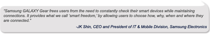 JK Shin, CEO and President of IT & Mobile Division, Samsung Electronics