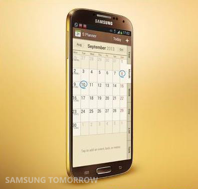 gold samsung phone