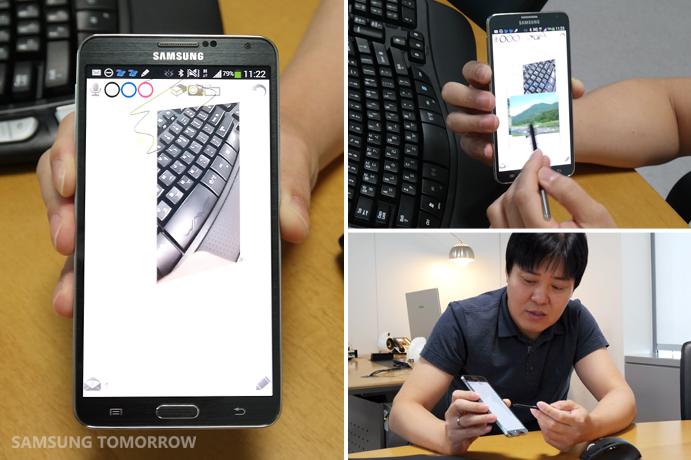 An app called K-memo Samsung Mobile SDK developed.