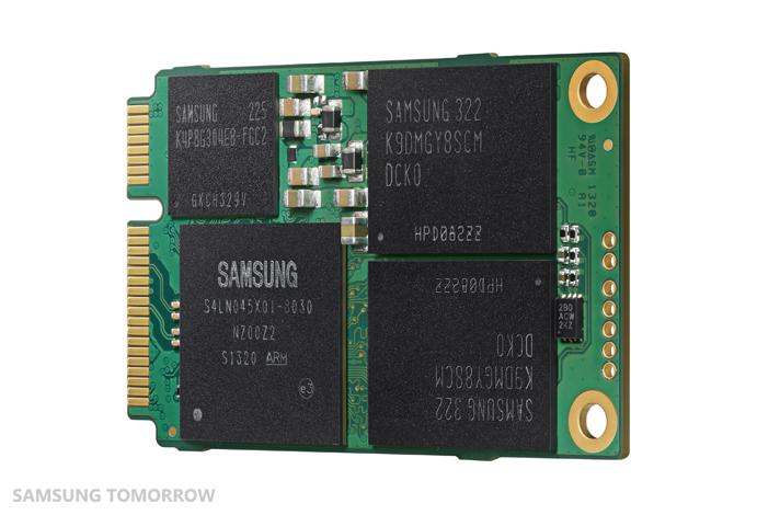 Image of the Terabyte mSATA SSD (back)