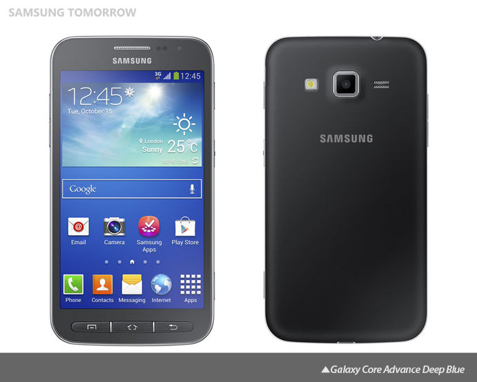 Galaxy Core Advance Deep Blue