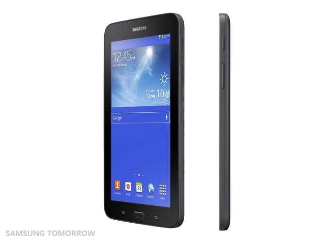 Galaxy Tab3 Lite side view black