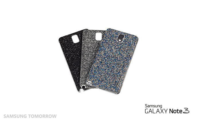 a stunning limited-edition cover encrusted with Swarovski crystals for the recently launched Galaxy Note 3
