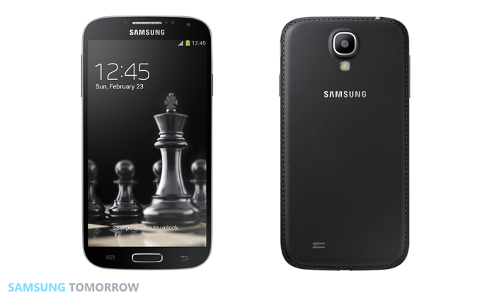 Samsung Unveils New Black Edition Galaxy S4 Front and Back view