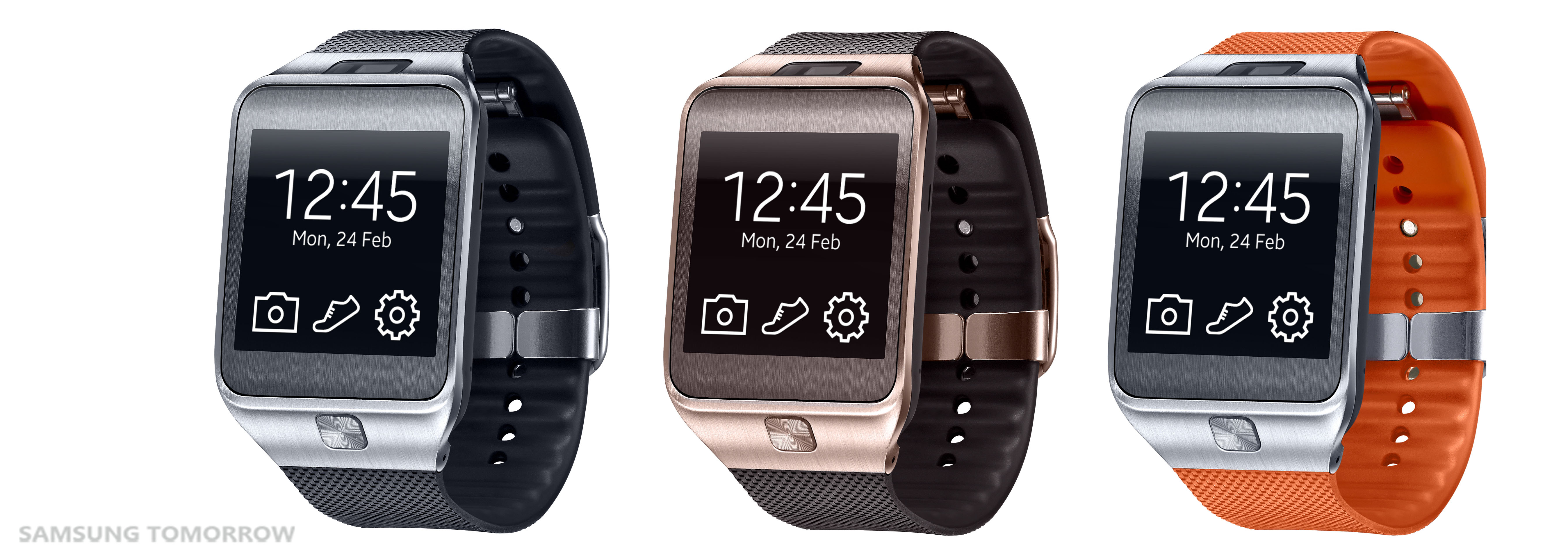 samsung gear 2 black brown orange