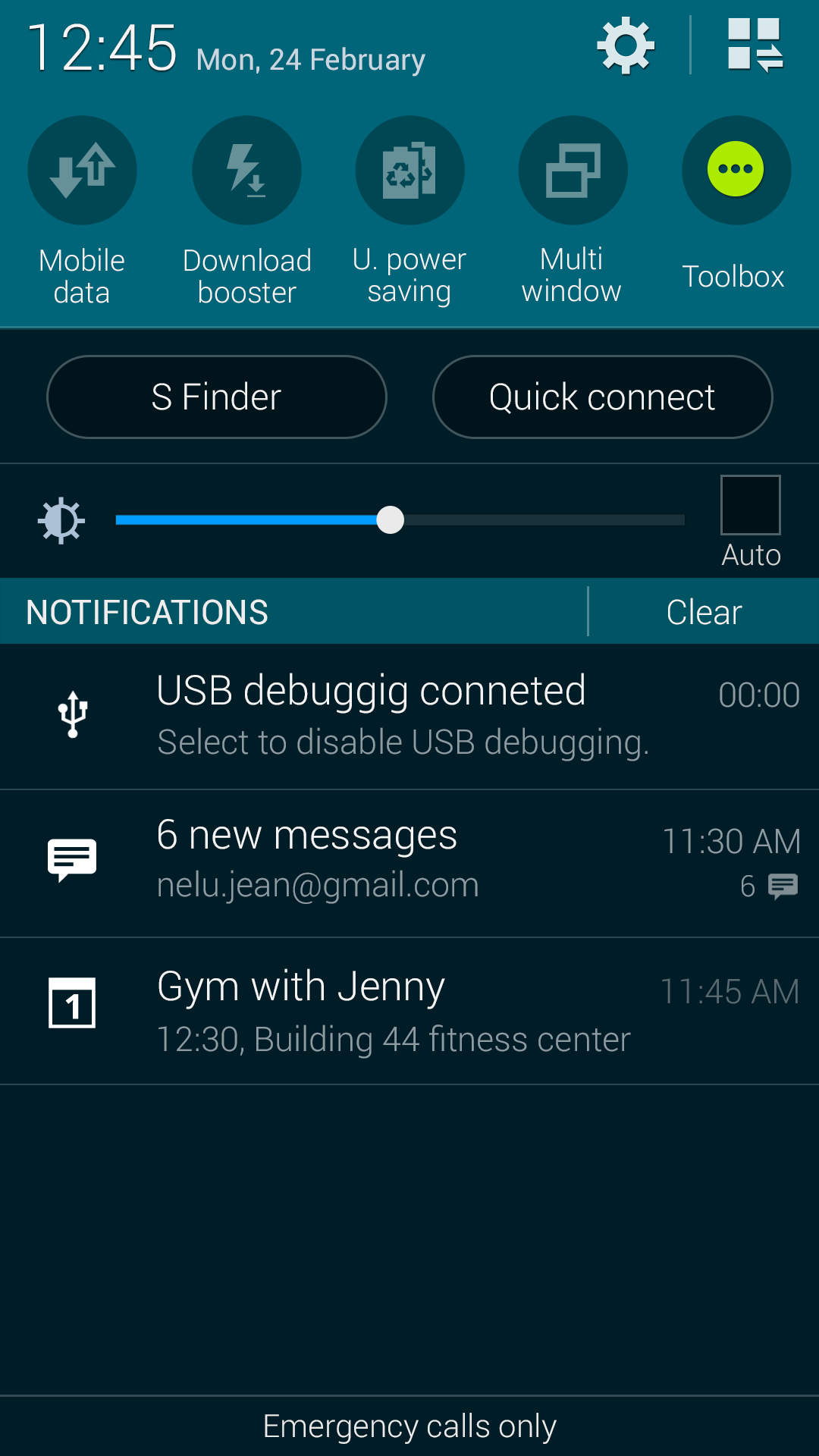 samsung galaxy s5 lock screen notifications