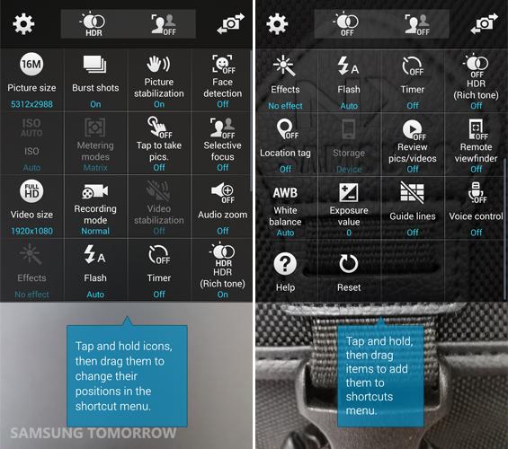 Galaxy S5 Basic Camera Option