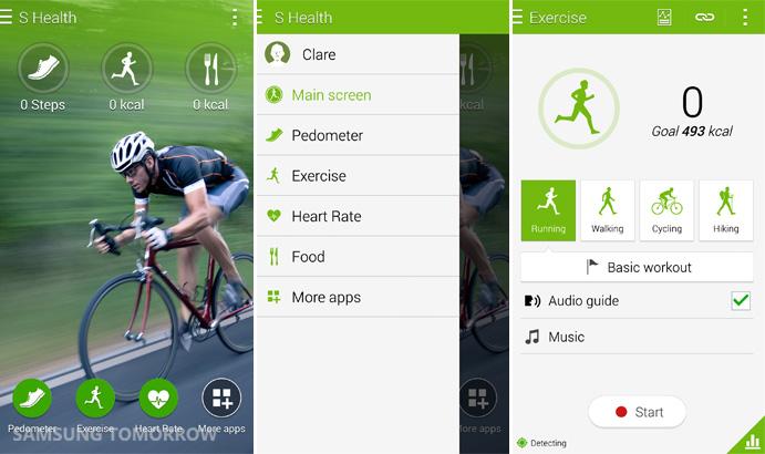 S Health 3.0 Basic UI
