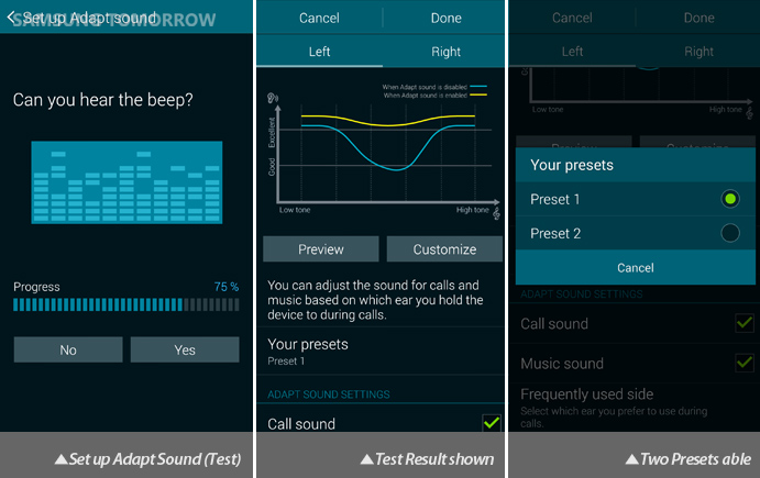 Galaxy S5 Audio: Adapt Sound (Test)