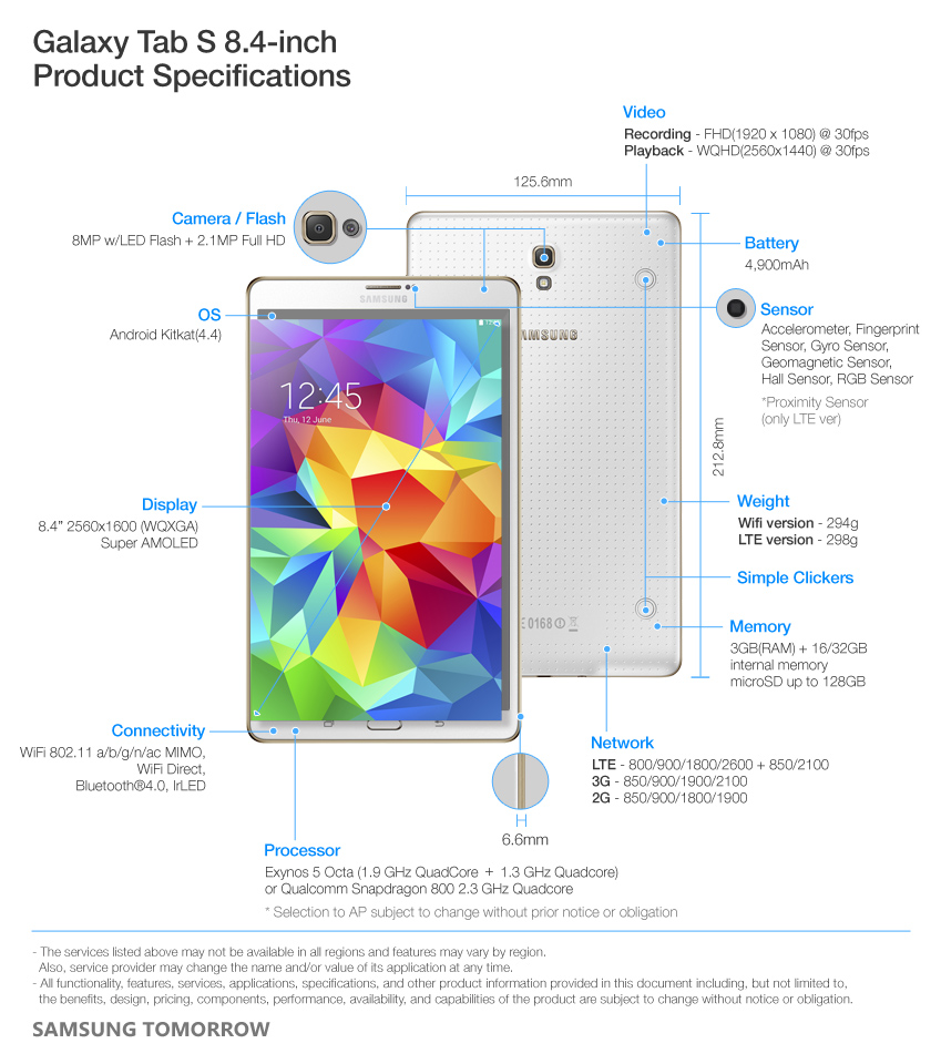 Samsung introduces Galaxy Tab S, a Super AMOLED tablet – Samsung