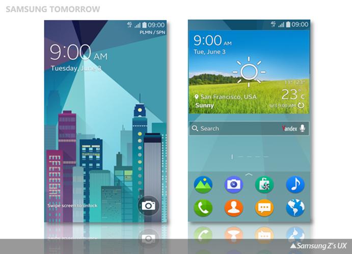 Samsung Z's UX