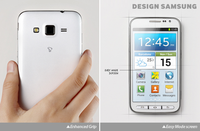 Galaxy Core Advance - Enhanced Grip and Easy Mode screen