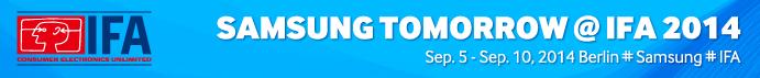 IFA 2014 Samsung Tomorrow - Content Banner
