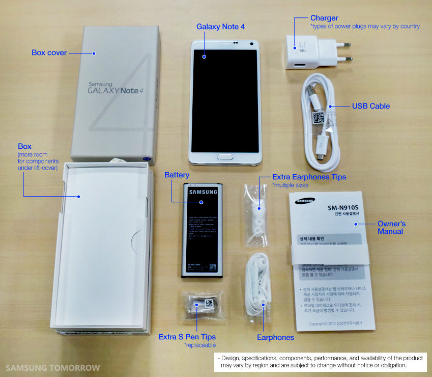 Unboxing of the Galaxy Note 4