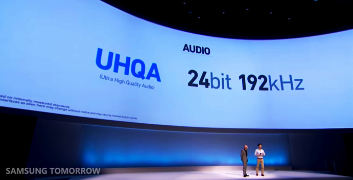 Galaxy Note 4 features UHQA (Ultra High Quality Audio) supporting 24bit, 192kHz auduio.