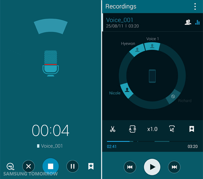 3_Voice recorder 2_Direct pen input of Galaxy Note 4