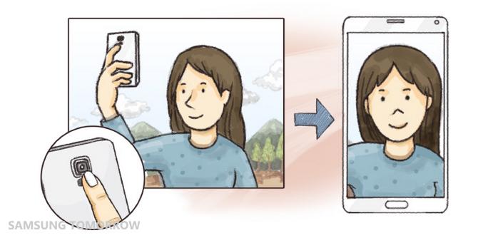 Galaxy Note 4 - Using HRM Sensor to take a selfie
