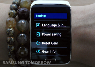 Gear S Power Saving Demo-Side image