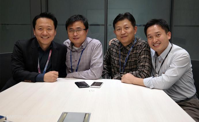 The people behind NFC - Jeongseok Chae (Marketing), Seojung Kim (NFC Solution), Chanyong Kim (Hardware Design), Il-Jong Song (RF Development), System LSI, Samsung Electronics