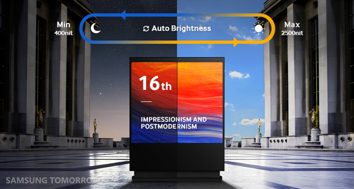 Brightness-Samsung OMD Series SMART Signage Outdoor solution