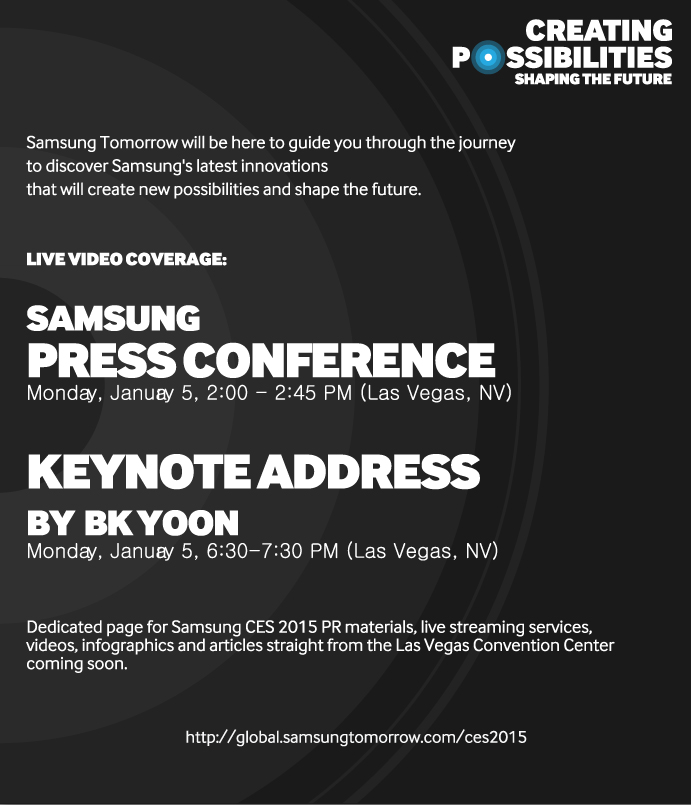CES 2015 @ Samsung Tomorrow.