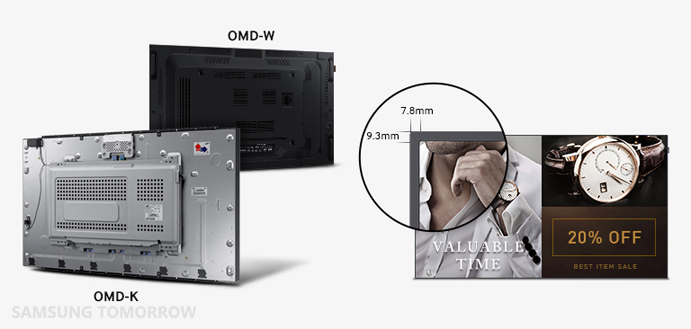 Samsung OMD Series SMART Signage Outdoor solution