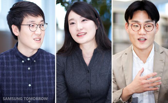 Designers who participated in Samsung Design Membership - Jaedeok Yun, Myungsun Kim, JaeMin Lee