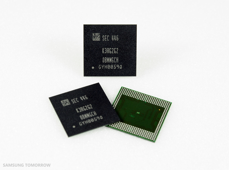 industry's first 8 gigabit (Gb) low power double data rate 4 (LPDDR4) mobile DRAM