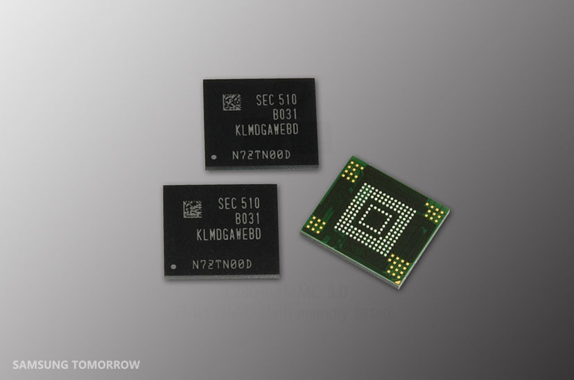 Samsung Electronics Introduces High-performance 128-Gigabyte, 3-bit NAND Flash Memory Storage for Mass Mobile Device Market