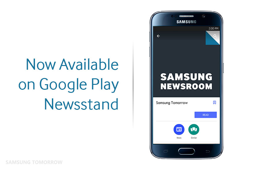 Samsung Tomorrow Now Available on Google Play Newsstand