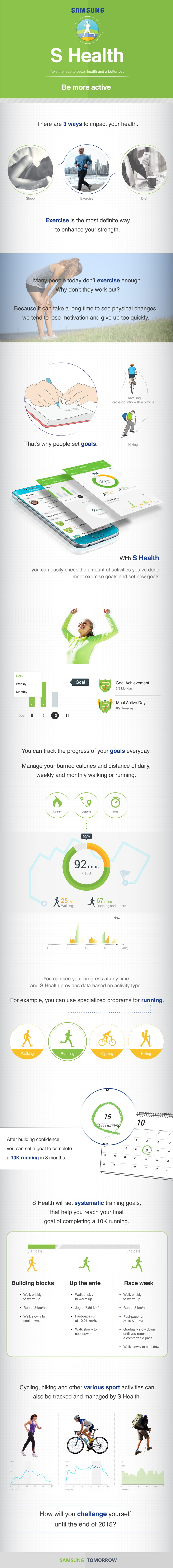 [Infographic] How To Get Fit with the S Health App