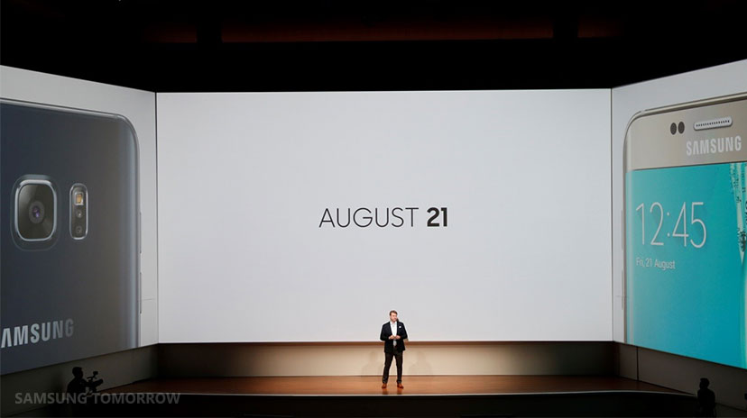 The new flagship phones will go on sale in the United States and Canada on August 21.