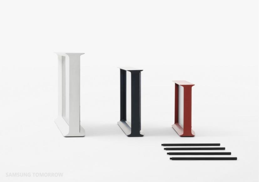 Samsung Tv Met Meubel.Samsung Serif Tv Redefines Tv Design Thanks To Collaboration With