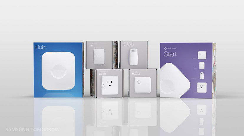 The New SmartThings Hub and Sensors (released on September 3, 2015) transforms your smartphone into a remote to control and monitor lights, locks, electronics and more.