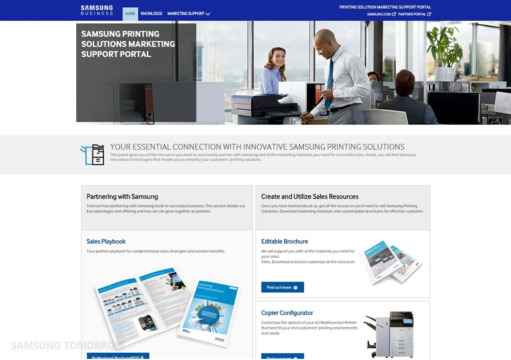 samsung printing marketing support portal