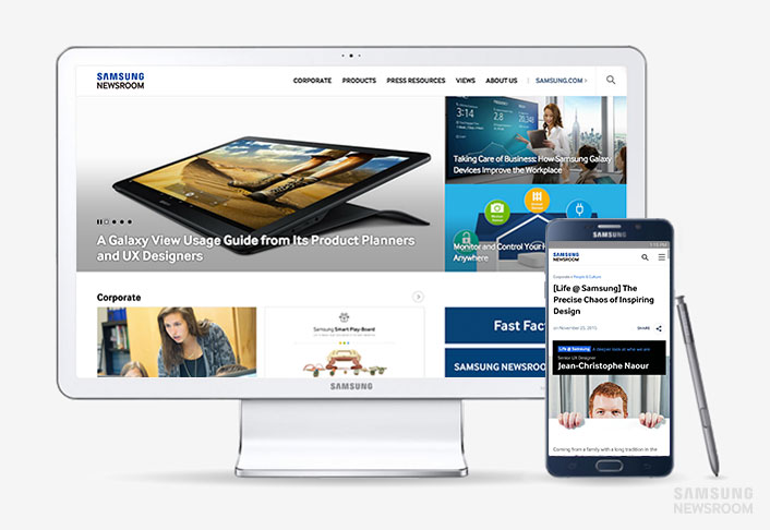 samsung launches samsung newsroom the new website for