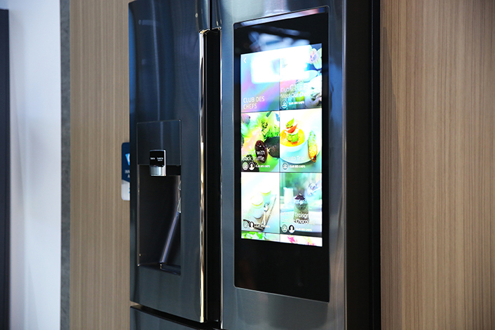 Photo essay a stylish new look in home appliances - Lg fridge with flower design ...