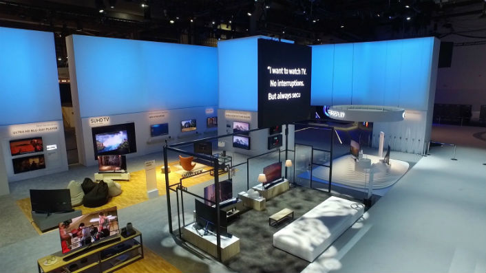 Samsung at ces 2016 creates an in sync with real life for Household experience design