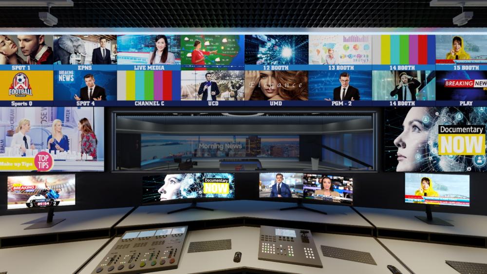Estúdio de TV equipado com produtos Samsung que será exibido em experiência virtual
