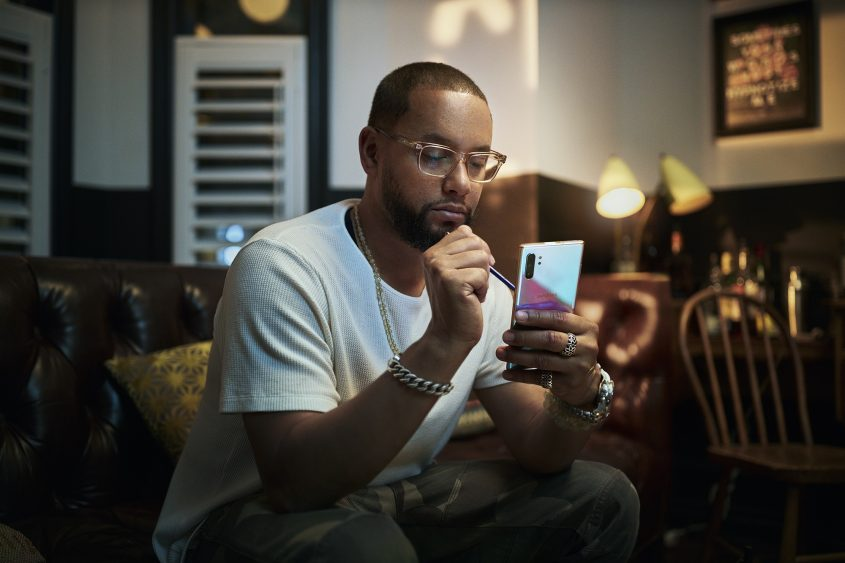 Director X with Samsung Note 10