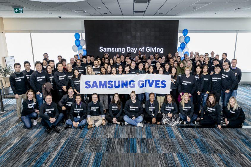 Mois mondial du don chez Samsung